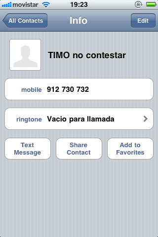 Número bloqueado iPhone