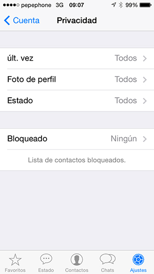 WhatsApp - Cambiar Ultima Vez - screenshot 2