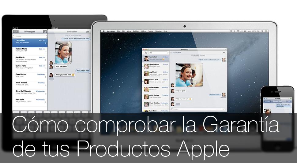 Comprobar garantia iPhone iPad