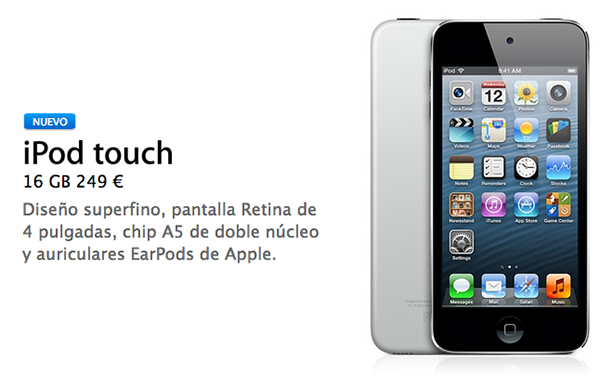 iPod touch 16GB 249 euros