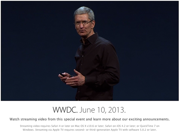 Apple WWDC 2013 Official Video
