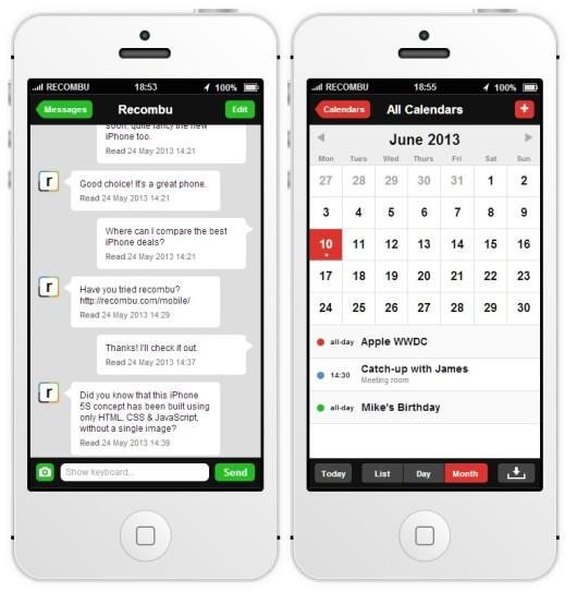 iOS7 iPhone 5S Interactivo - 1