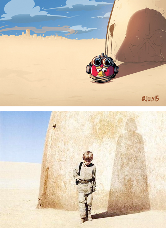 Angry Birds star wars Phantom Menace