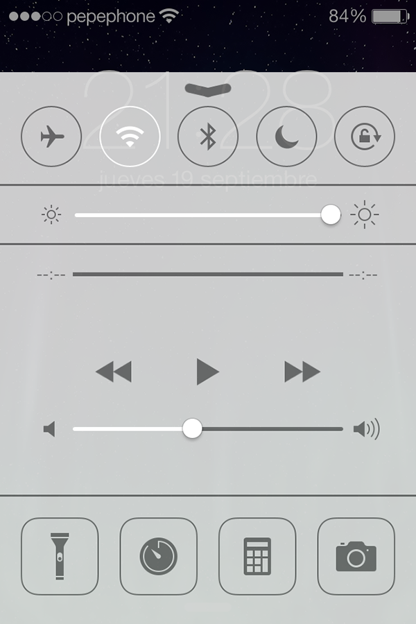 iO7 vs iOS 6 - Novedades de Uso - Control Center