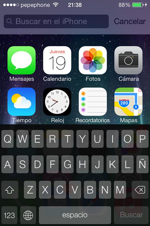 iO7 vs iOS 6 - Novedades de Uso - Spotlight