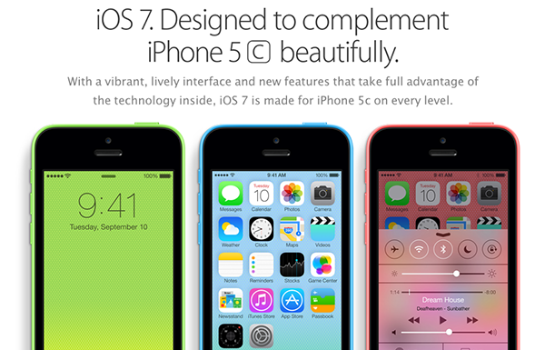 iPhone 5C - iOS 7