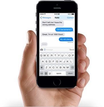 iMessage iOS 7 iPhone 5s