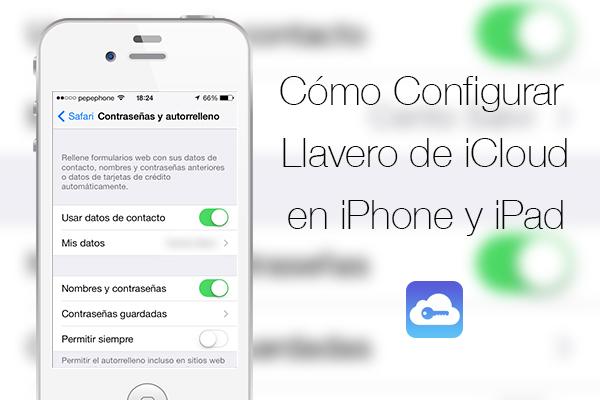 confgurar llavero icloud iphone ipad