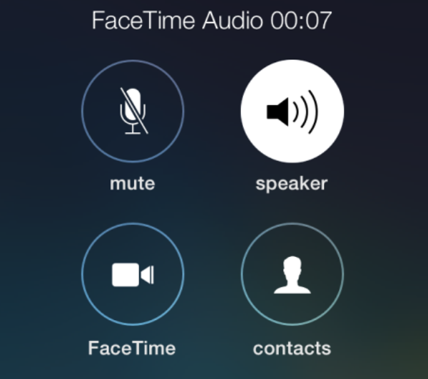 iPhone FaceTime Audio
