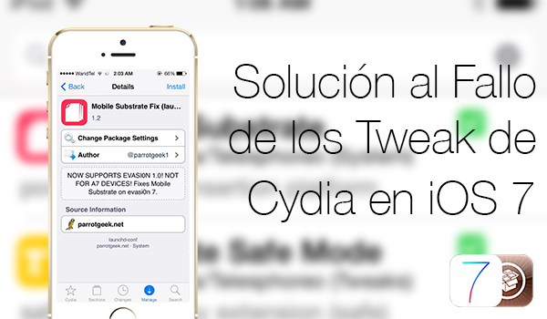 Solucion Fallo Tweaks Cydia iOS 7