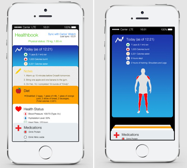 Healthbook iOS 8