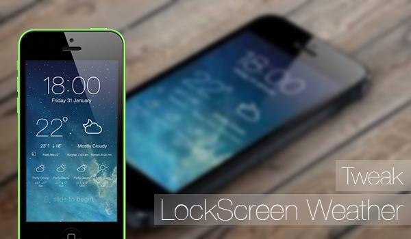 LockScreen Weather - tweak