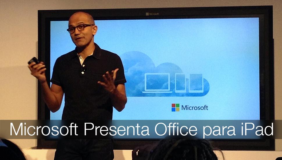 Microsoft Presenta Office iPad
