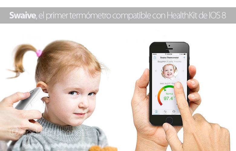 Swaive, el primer termómetro Bluetooth compatible con HealthKit de iOS 8