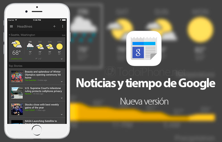 Noticias-tiempo-Google-ios-8-widgets