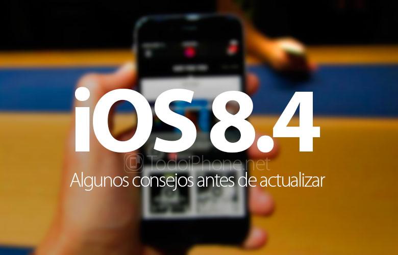 iOS 8.4: Algunos consejos antes de actualizar