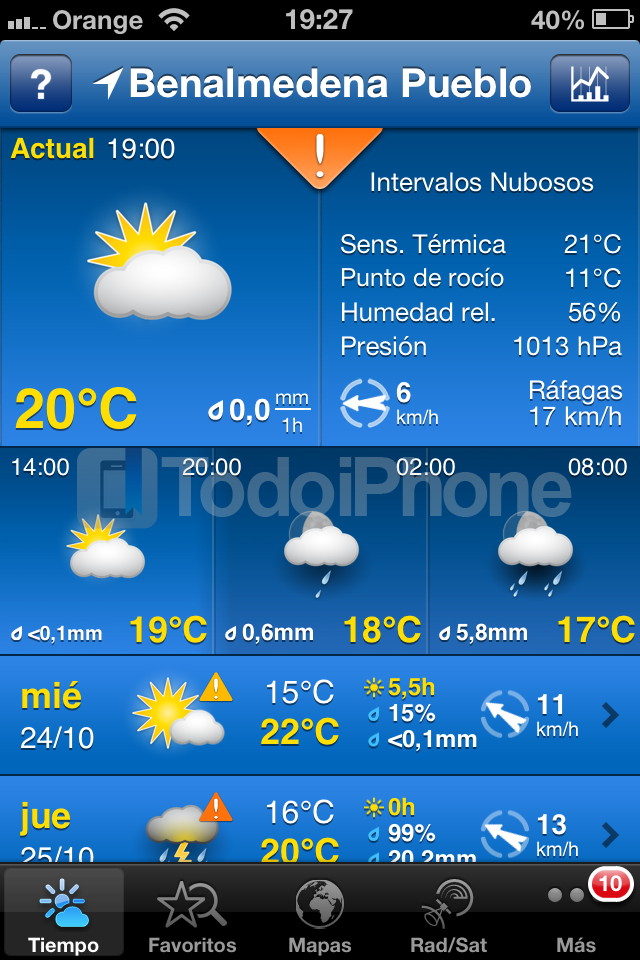 WeatherPRO - TodoiPhone 3