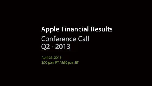 Resultados Ingresos Apple Q2 2013