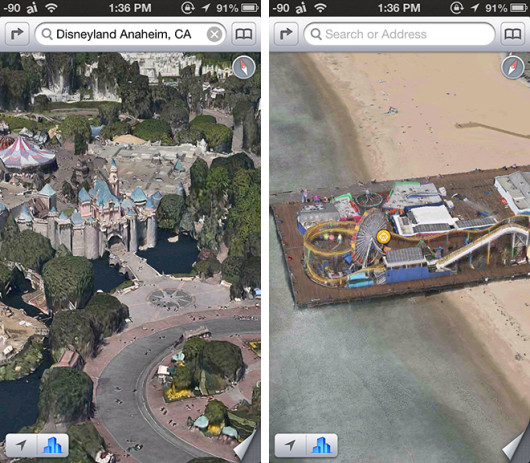 FlyOver California Mapas iOS - Disneyland