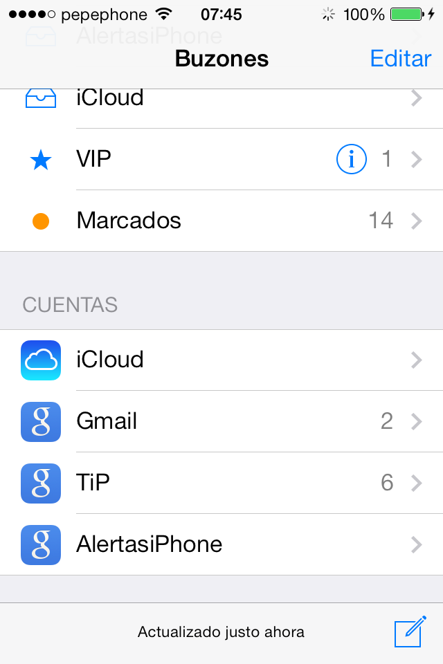 iOS 7 Beta 4 Iconos Mail
