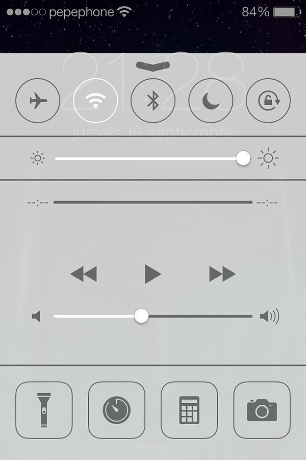iO7 vs iOS 6 - Novedades de Uso - Control Center