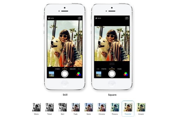 iOS 7 Camara App - Filtros
