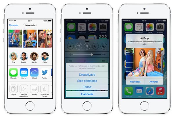 iOS 7 Fotos AirDrop