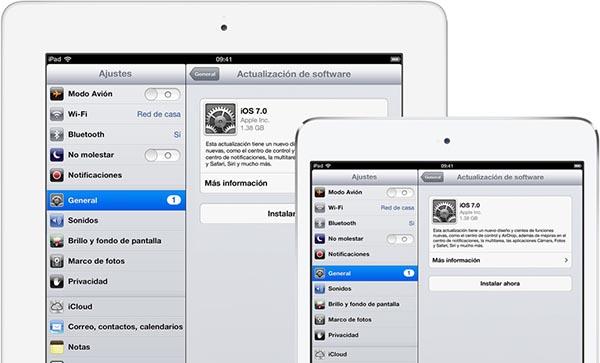 iOS 7 Actualizar