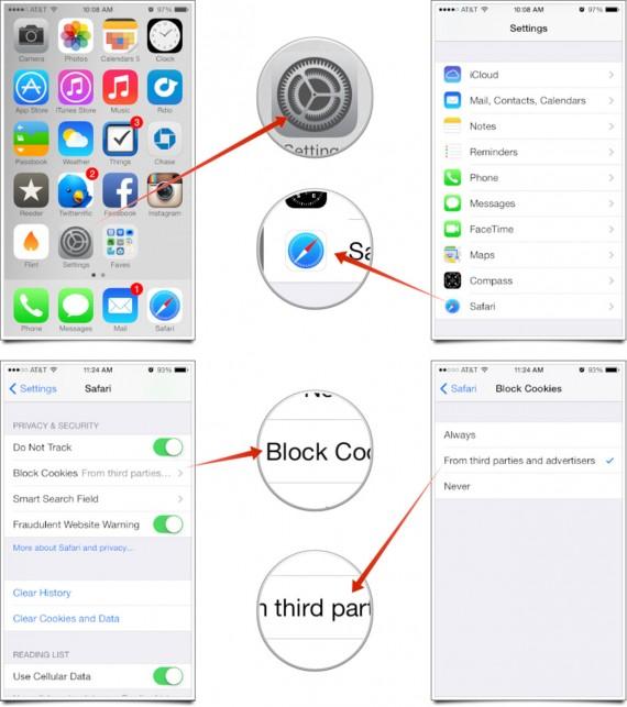 iOS 7 iTunes Store Crash - Cambiar Cookies