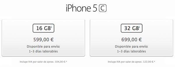 iPhone 5c - Capacidades