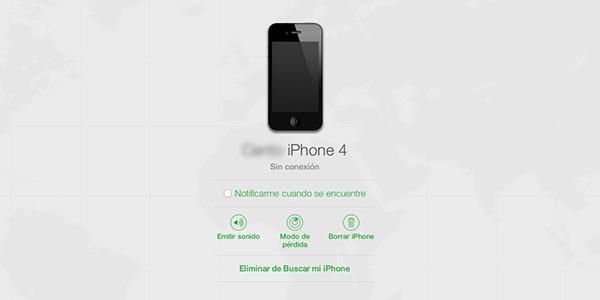 Buscar mi iPhone - iCloud Web - Noticar Disponibilidad