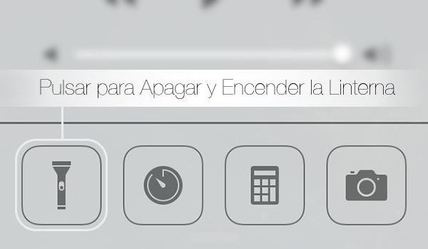 Como Apagar Encender Linterna iOS 7