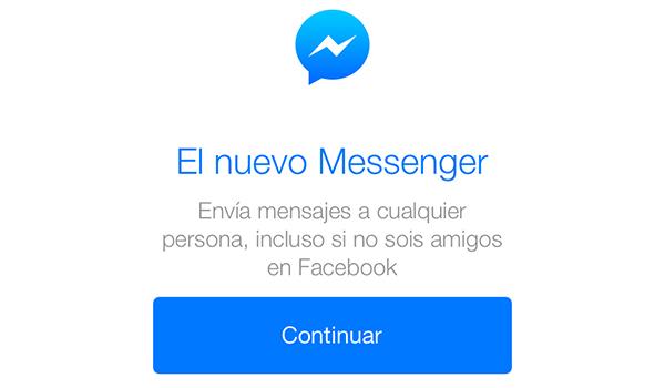 Facebook Messenger - Inicio