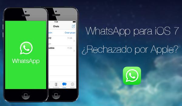WhatsApp iOS 7 Rechazado