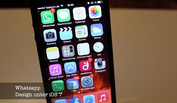 WhatsApp iOS 7 Video