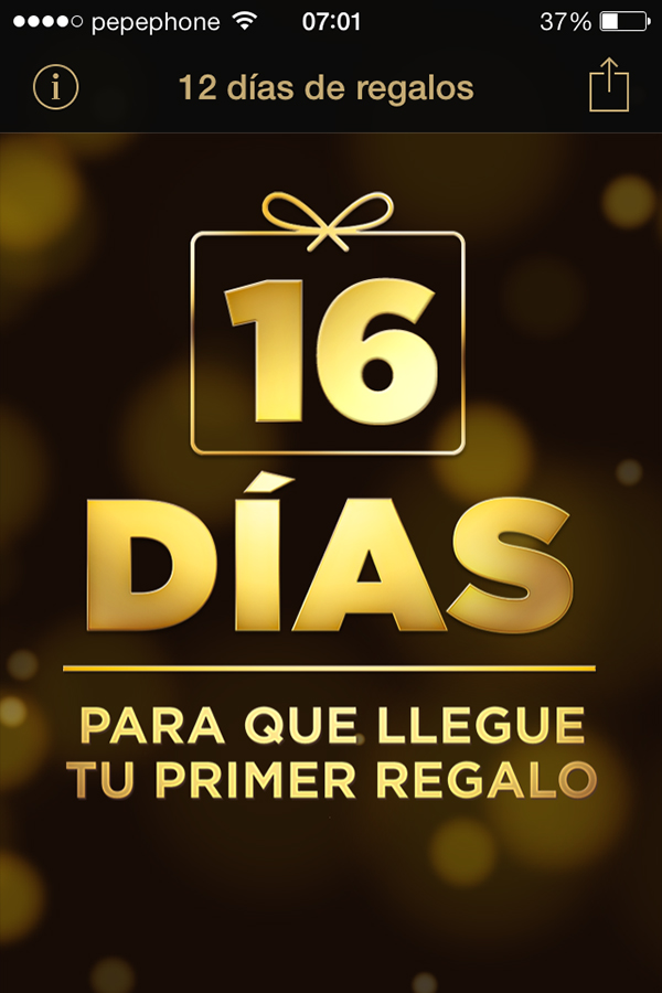12 Dias Regalos iPhone-iPad - Contador