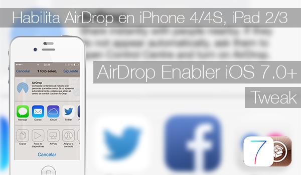 AirDrop Enabler iOS 7 - Tweak