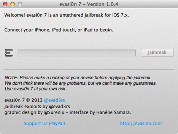 Evasi0n7 1.0.4 Jailbreak
