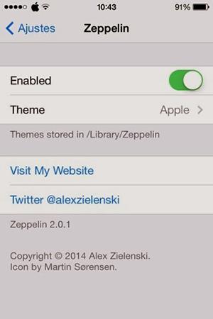 Zeppelin Ajustes - Tweak