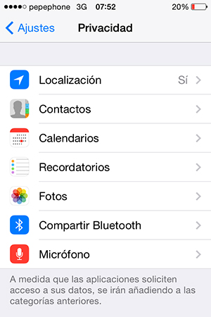 iOS 7.1 Solucionar problema localizacion - 1