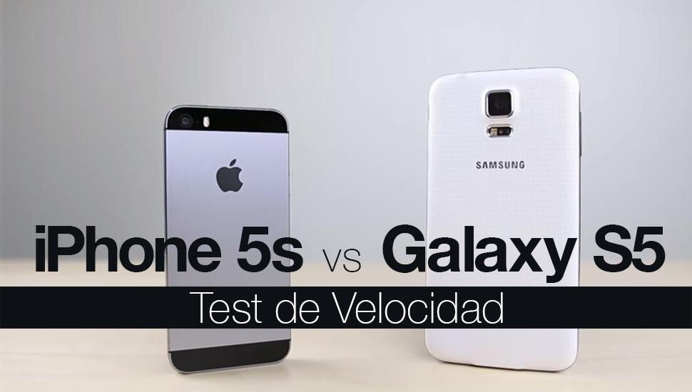 iPhone 5s vs Galaxy S5 - Test Velocidad
