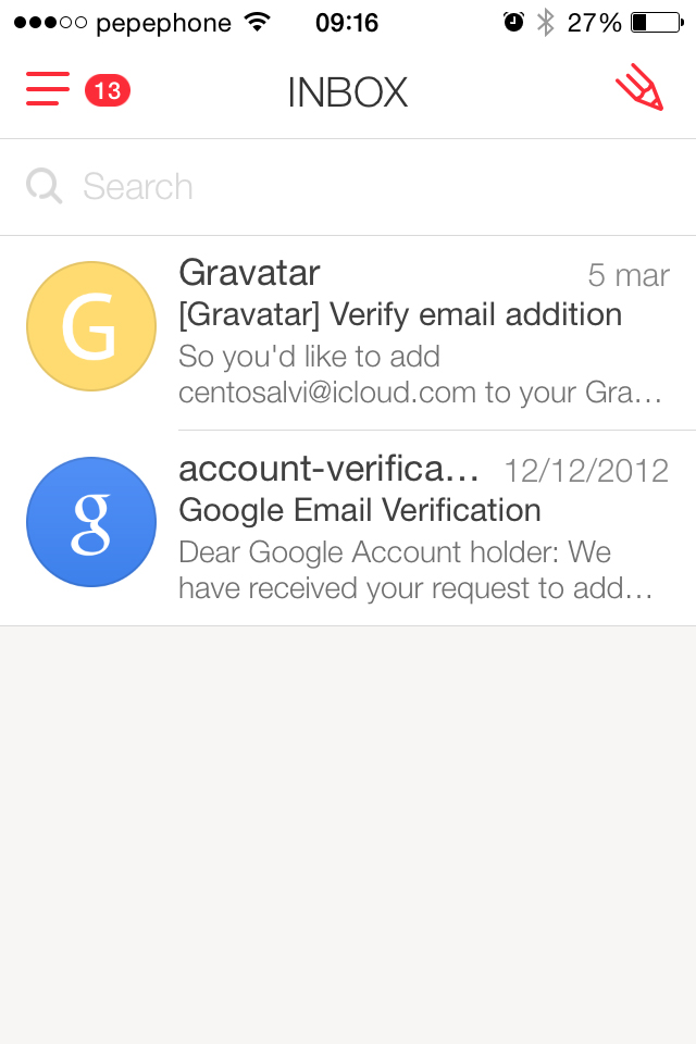 myMail - email