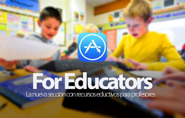 for-educators-seccion-app-store-recursos-educativos-profesores