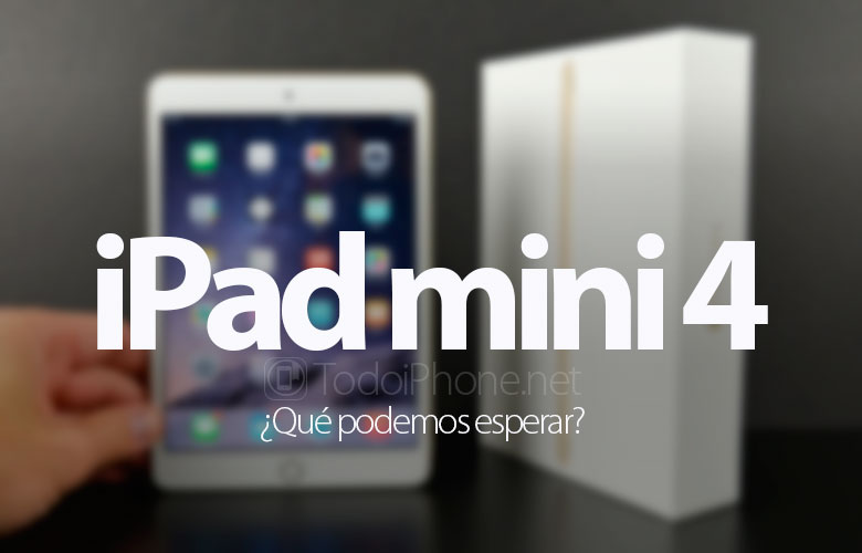 qu podemos esperar del ipad mini 4. Black Bedroom Furniture Sets. Home Design Ideas