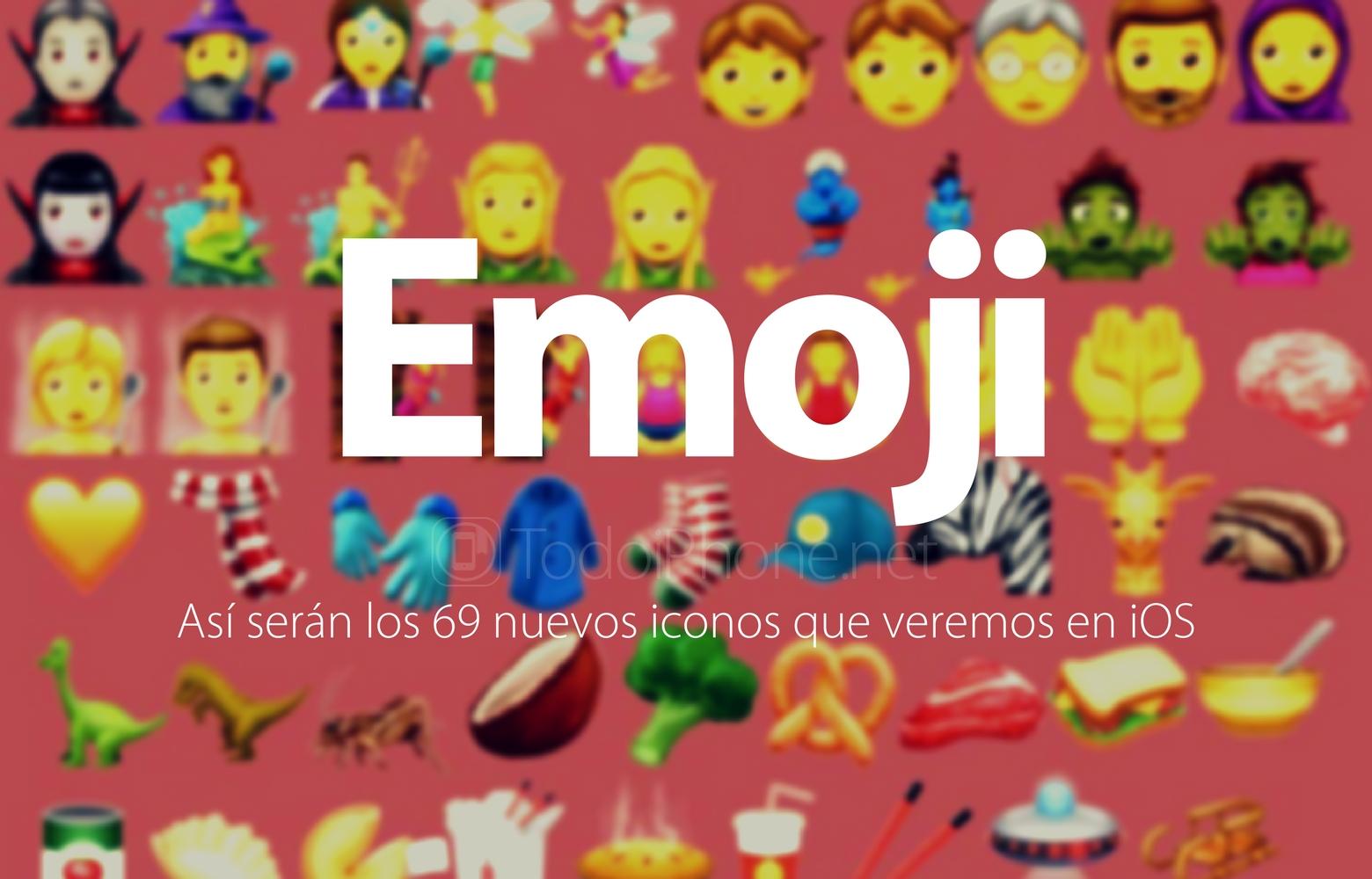 todoiphone.net - Emoji: así serán los 69 nuevos iconos que veremos en iOS