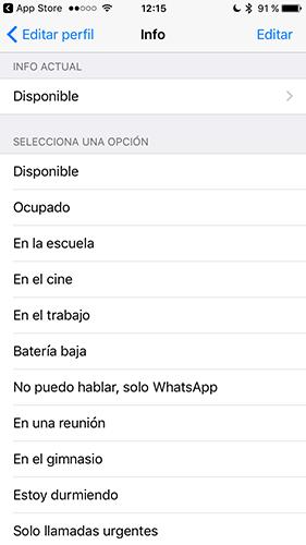Cómo Poner Un Mensaje De Estado En El Perfil De Whatsapp Para Iphone